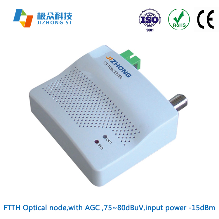 47-1000MHz WDM AGC FTTH CATV Optical Receiver