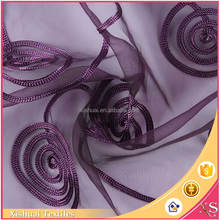 Latest designs Polyester Net pattern Custom dress fabrics for mother of bride