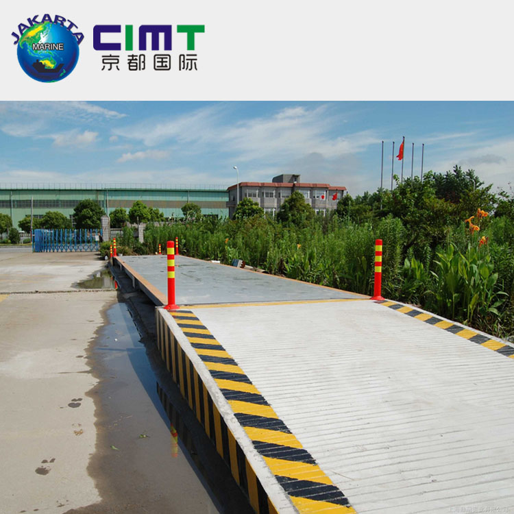 4*17M electric truck <strong>scale</strong> 60 ton weighbridge with low price and high quality