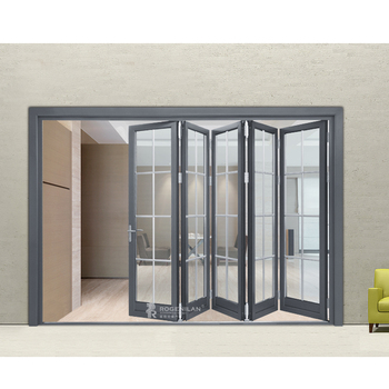 75# China Factory Australian standards insulated folding door/retractable folding aluminium doors prices/bi fold door
