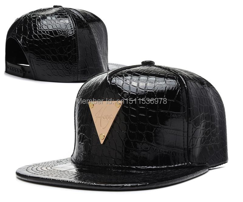 4653c2f8750 Get Quotations · 2014 new Leather Snapback Hats Adjustable Baseball Caps  Leopard Black White Diamond Hip Hop Vintage Triangle
