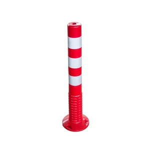 Road Safety Warning 75CM Flexible PU Road Traffic Delineator Post With Reflective Tape