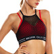 Women Private Label Sports Bra Shock Absorber Crop Top Fitness Quick Dry Mesh Strappy Vest Sports Bra