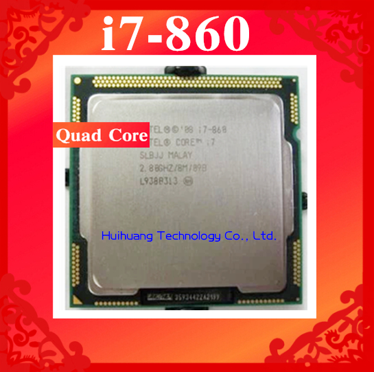 Core i7 860 2 8GHz 8M SLBJJ Quad Core Eight threads desktop processors Computer CPU Socket