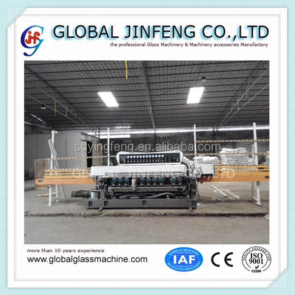 JFB361 10 motors glass straight line beveling machine for mosaic glass