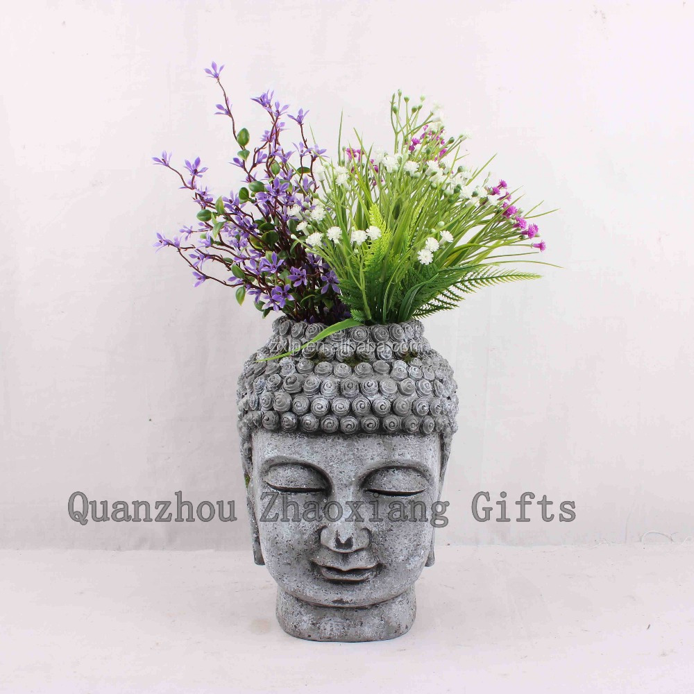 ZX50016 2017 Very New Spring Flower Vase Item Resin buddha Crafts Polyresin Decoration Gifts zen garden gift jardiniere