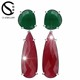 Newest Arrival fashion bridal jewelry big colorful gemstone stone earrings