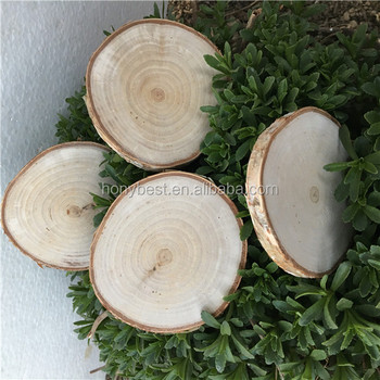 Best Selling Unpainted Wood Disk Birch Slice Circle Christmas Ornament Craft