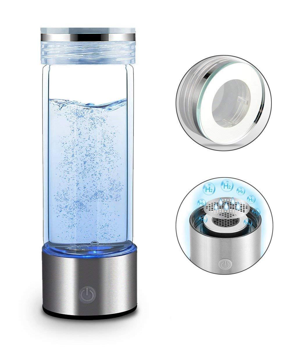 546eff45c9 Get Quotations · Hydrogen Water Bottle Portable Hydrogen Water Maker SPE  PEM Technology Rechargeable Ionized Water Generator Anti Aging