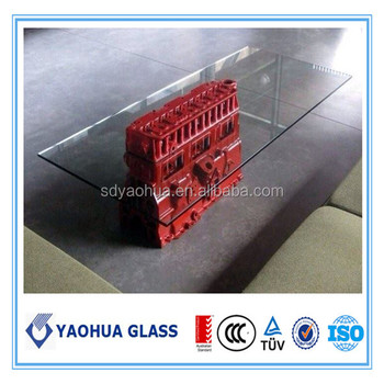 Superb High Quality CE Tempered Table Glass Table Beveled Edge Laminated Glass  Table Top Glass Support