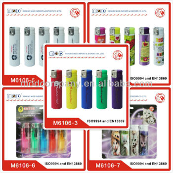 Higher quality plastic piezo GAS LIGHTERS in five colors