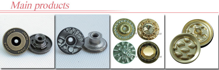jeans metal buttons wholesaler