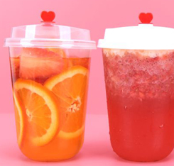 disposable pp plastic clamshell,boba tea cup with lids,feiyang95mm plastic cup lid