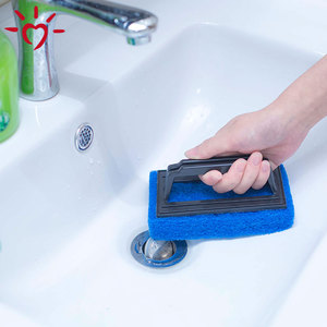 Home cleaning products strong cleaning kitchen bathroom hand-held sponge scrubber