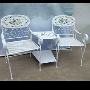 Outdoor Balcony Chinese Style Mosaic Table Set