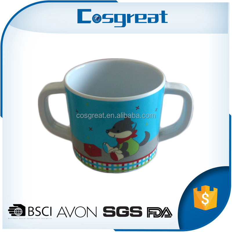 Hot selling colorful heat resistant melamine cups mugs with OEM printing