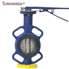 Cast Iron/Ductile Iron wafer type handle butterfly valve soft seal