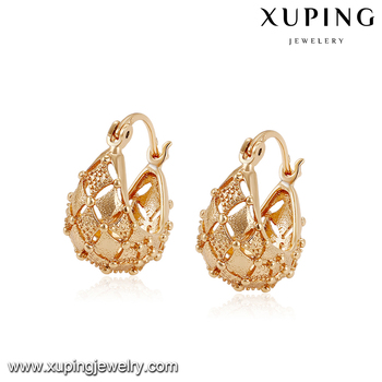 94480 Fancy Gold Earring Newest Fashion Ear Studs Without Stone Designs Earrings