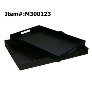Wholesale Rectangular Large Airline Unique PU Leather Serving Tray