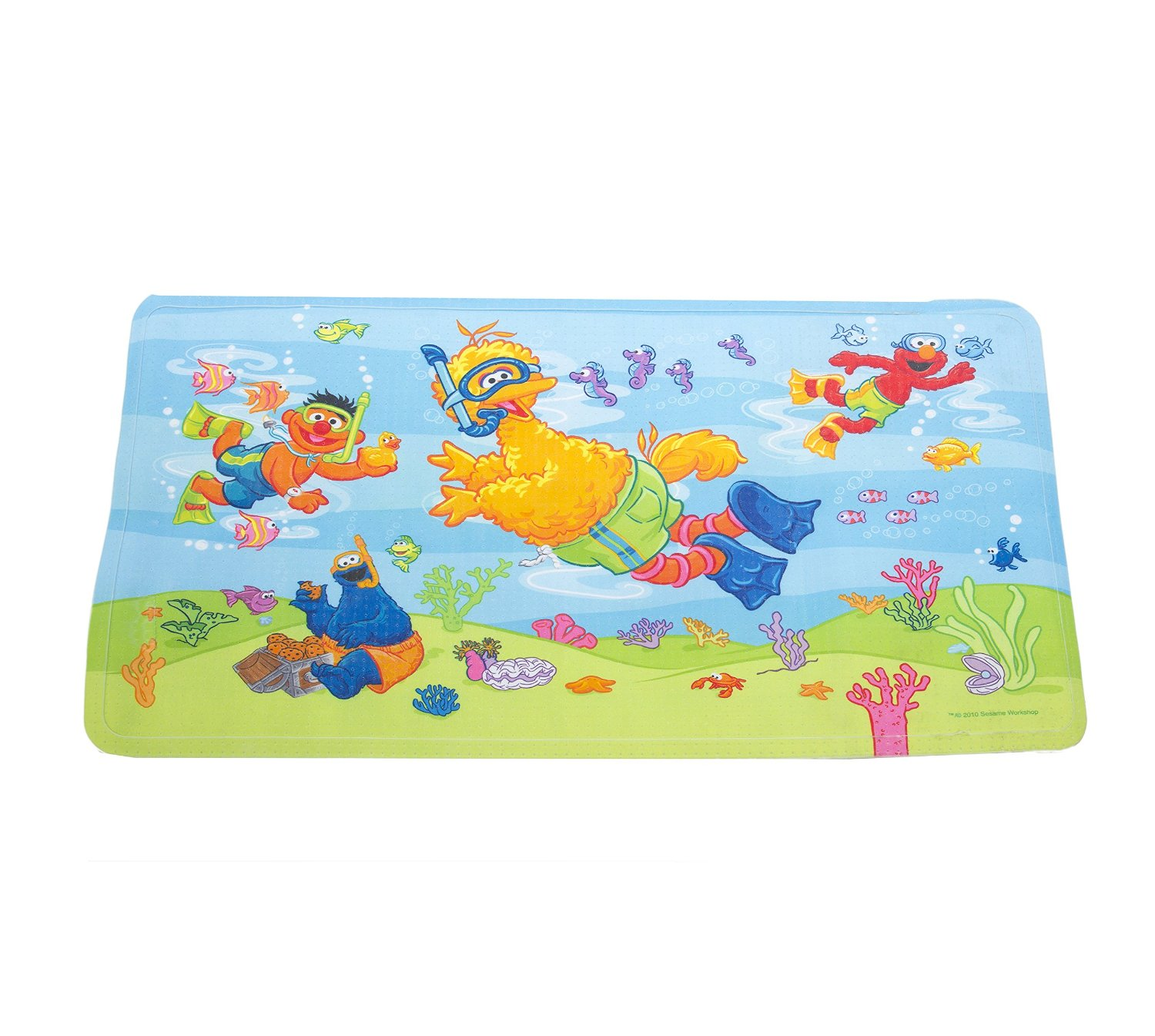 Buy Sesame Street Underwater Decorated Bath Mat By Ginsey