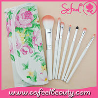 Sofeel Dropship 12 Pcs Cosmetic Brush Set with Peony Flower Print Pouch Case