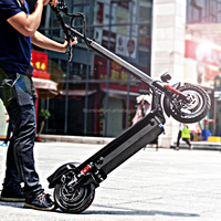 2016 newest 48v20ah 80km range folding kick scooter electric with front and rear suspension