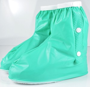 Outdoor Polyester wellies rain boots women Rain Boots lady Cover Waterproof Rain Boots women