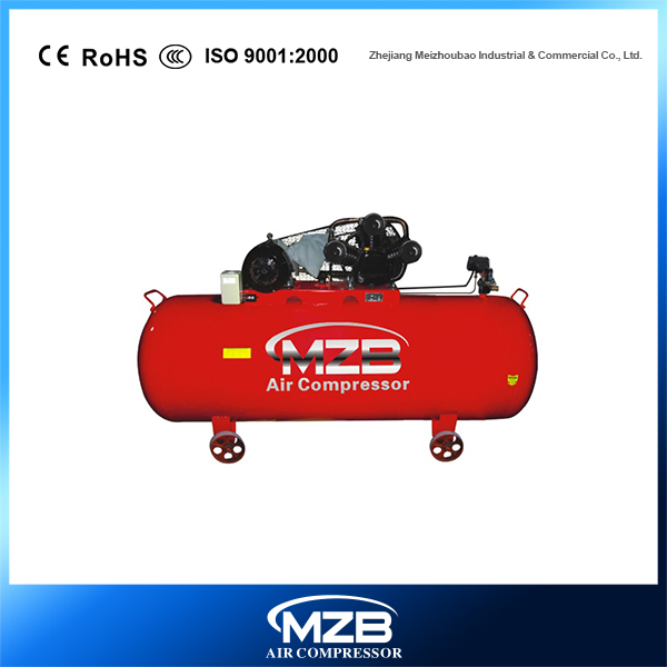 belt air compressor 1000L tank with MZB logo