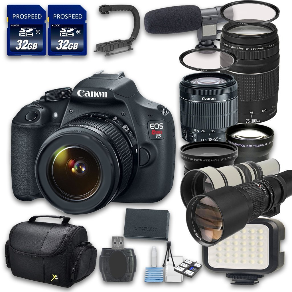 Get Quotations · Canon EOS T5 Camera Bundle with Canon EF-S 18-55mm f/3.5