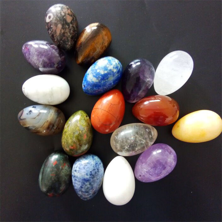 Rose quartz nephrite หยกไข่ kegel การออกกำลังกายที่สวยงามกล่อง