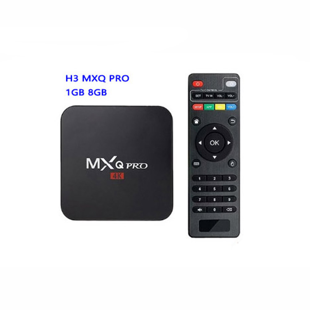 Mxq Pro Mini Smart Tv Box Android 7.1 1Gb/8Gb Smart Media <strong>Player</strong> 4K H.264 2.4G Wifi Tvbox