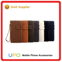 [UPO] Hot Selling Luxury Ultra thin PU Leather Case for Iphone 6 Foldable Stand leather Cover