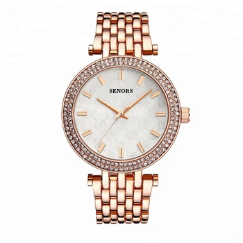 Senors SN050 3ATM promotional custom logo watches fashion rose gold plated watches for women watch ladies