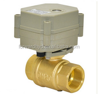 2 Way 1 Inch Electric Flow Control Brass Water Ball Valve