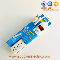 South American Hot Selling 6 Outlet Electrical Extension Socket Power Strip with Mater Switch