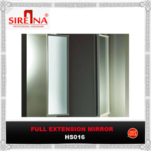 Wardrobe full-extension mirror with three section ball bearing slides