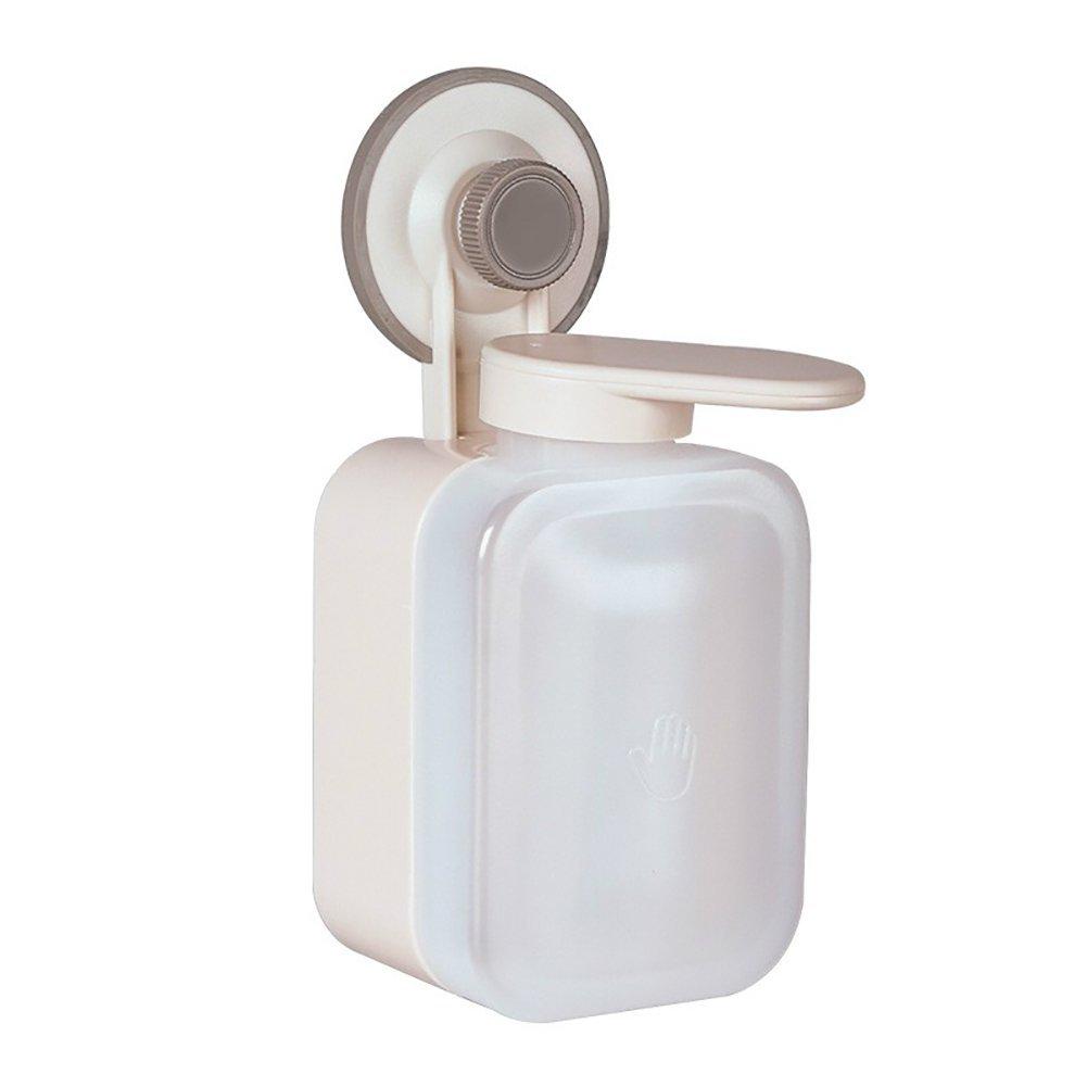 DULPLAY Manual Soap Dispenser,Abs Plastic, Single Wall Mount Shower Pump,Shampoo and Soap Dispenser,Kitchen Bathroom Hotel-A 19.5x8.5x7.5cm(8x3x3inch)