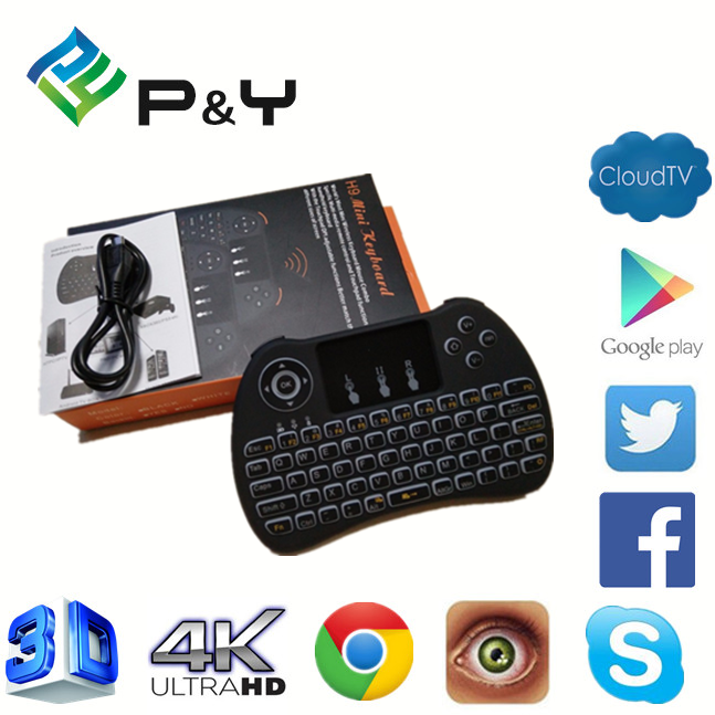 2017 Newest H9 air mouse for Android TV bluetooth keyboard top case with great price Wireless remote controll