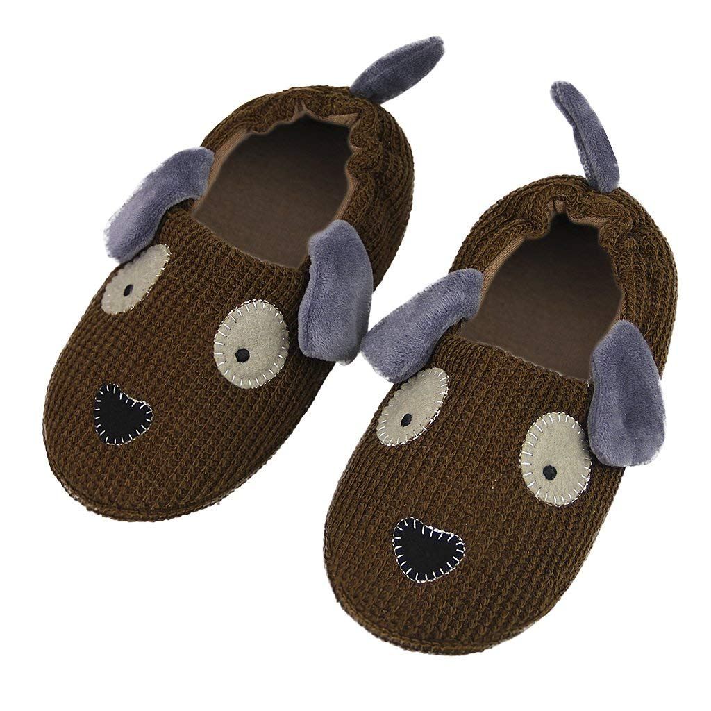 ef78d71bf033 Get Quotations · JIAHG Little Kids Puppy Slippers Boys Winter Warm Plush  Booties House Slipper Shoes Indoor Cartoon Ankle