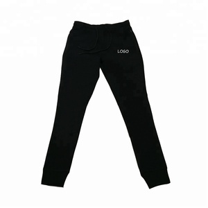 sweat fitness clothes plain black sweater long pants for mens gymwear