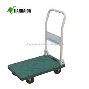 PH1006 Folding Platform Cart Rolling Flatbed Cart Hand Platform Truck Push Dolly for Loading