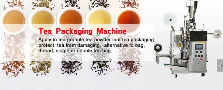 Food grade inner and outer flat tea leaves nylon granule tea bag packing machine