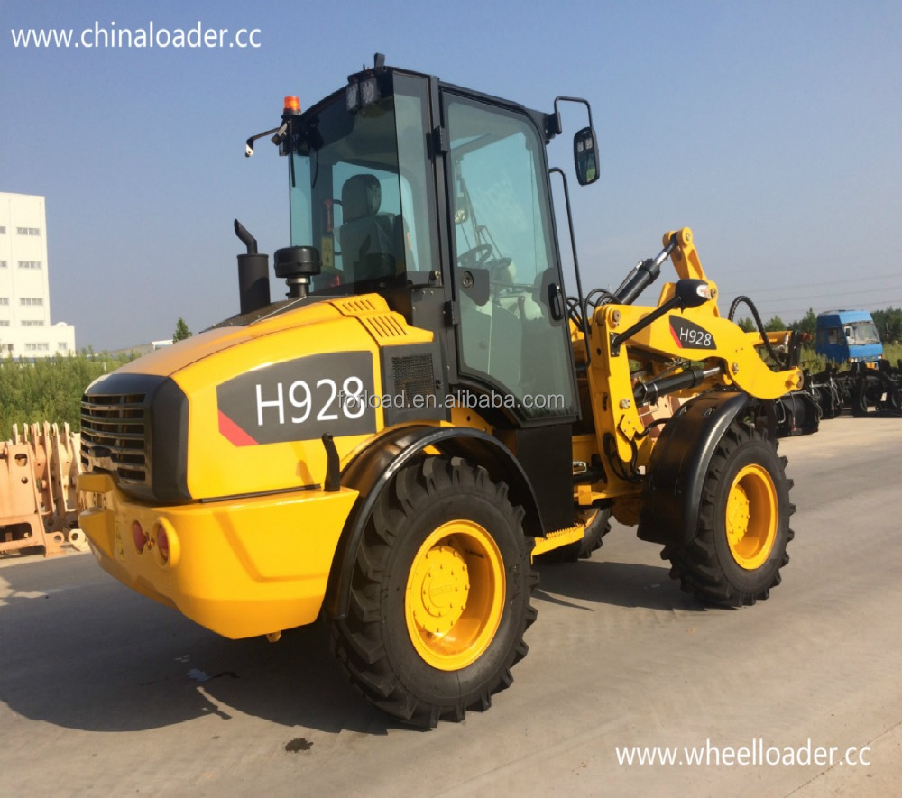 mini compacted frond-end wheel loader radlader with CE Rops 16/70-20 tire for sale