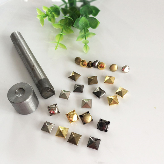 1000PCS/BAG 6mm 8mm 10mm Pyramid Punk Studs Rivet Nailhead Spike Square Leather Craft DIY Rock Punk фото