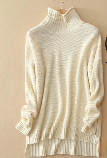 EY0841S lana Donne cable knit maglione dolcevita pullover