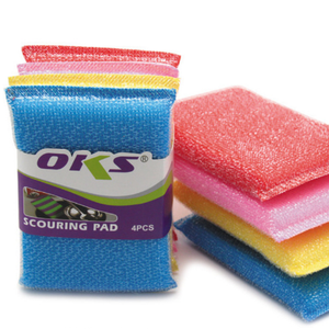 4PCS Wholesale sponge scouring cloth cleaning cloth kitchen gadget dish  washing cloth