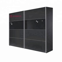 china high quality wardrobe design for bedroom black gloss sliding door wardrobe for sale