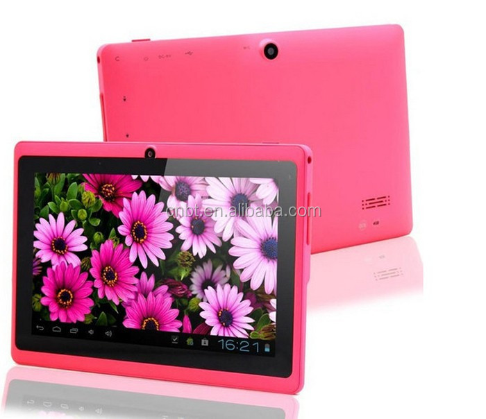 7-inch tablets, 1024*600 screen, capacitive multiple touch A33/RK 3126 Quad core