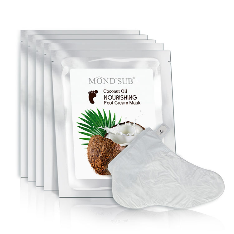 Nourishing Coconut Oil Essence Baby Foot Peeling Exfoliating Foot Mask фото
