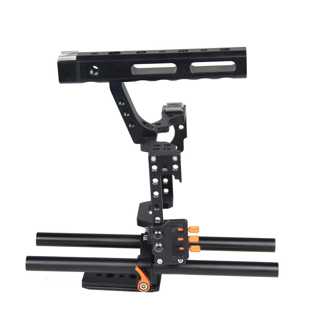 YELANGU C500 DSLR Video Camera Handheld Cage Kit Professional Movie Filming Equipment With Follow Focus Matte Box